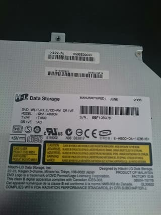 lector de DVD CD portátil