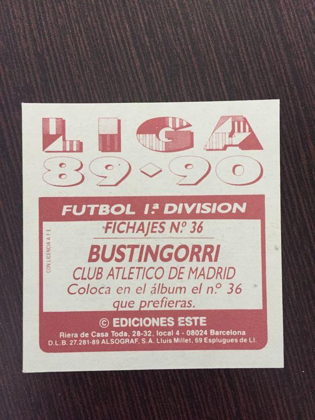 Cromo bustingorri atlético de madrid fichaje 89-90
