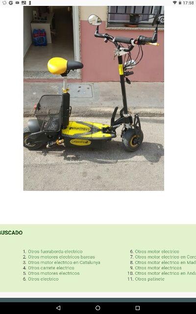 Se vende patinete eléctrico