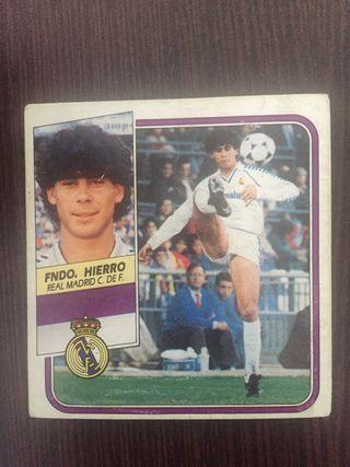 Cromo Fernando hierro fichaje,89-90 liga este