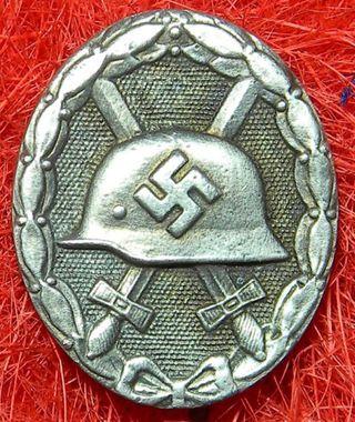 Insignia alemana nazi, medalla de herido, WWII
