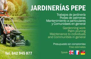 SERVICIOS DE JARDINERÍA..