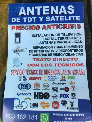 Antenas, interfonos, cámaras de CCTV