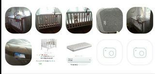 Cuna bebe lateral abatible+ colchón