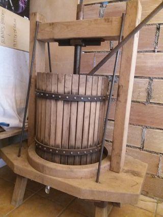 prensa de madera