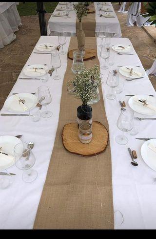 camino de mesa arpillería