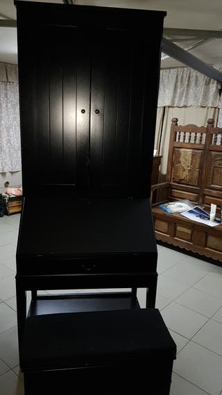 Secreter, escritorio, Buró, mueble con banco.