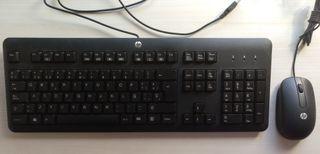 Teclado y raton USB HP