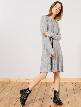 Vestido gris de Kiabi