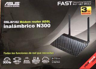 Módem router ASUS ADSL DSL-N14U