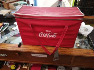 Coca Cola nevera portátil vintage años 70