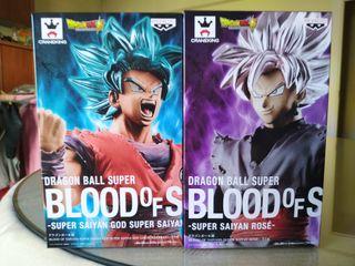 Pack figs Blood of saiyan Goku black & Dios goku