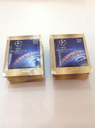 Champions league 2010-2011 panini 50 sobres cromos