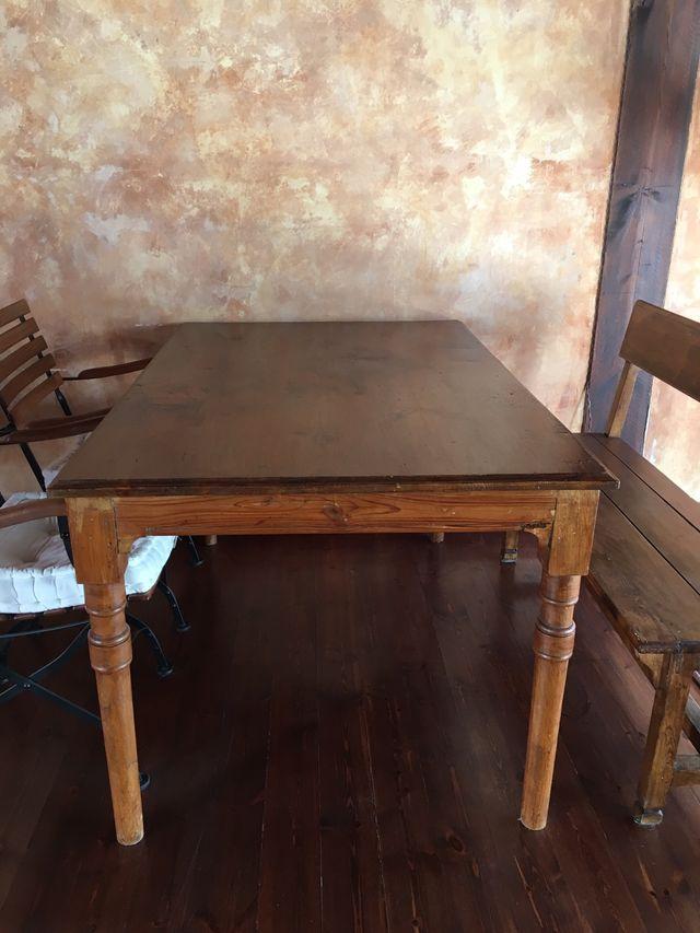 Mesa de comedor antigua madera rustica de segunda mano por ...