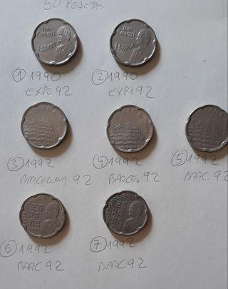 Moneda 50 pesetas Expo 92