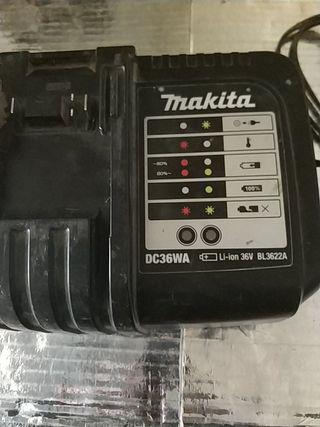 cargador makita 36 voltios