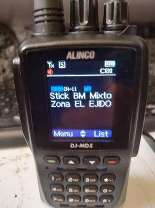 Emisora DMR Alinco DJ MD5