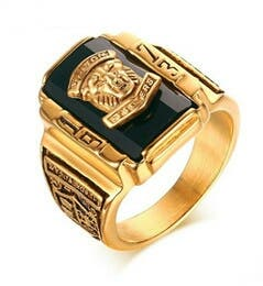 24ct gold signet ring
