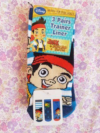 3 calcetines tobilleros Jake SIN ESTRENAR.N° 26-30