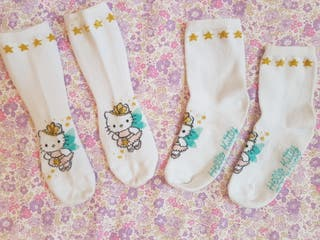 Lote de 2 calcetines de Hello Kitty hada. N° 26-30