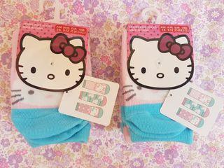 6 calcetines d Hello Kitty SIN ESTRENAR. N° 26-30