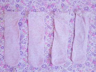 2 calcetines con puntilla SIN ESTRENAR. N° 26-30