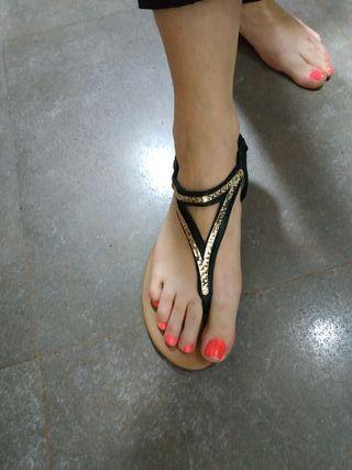 sandalias planas talla 39 H y M
