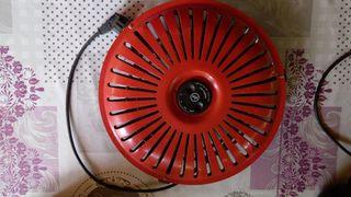 Calefactor eléctrico.