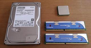 Pack disco duro 500Gb, 4Gb ram y AMD Phenom