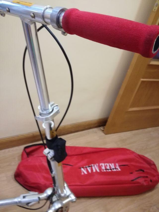 Patinete 3 ruedas con bolsa de transporte