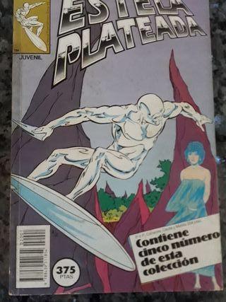 Comic superhéroe Estela Plateada