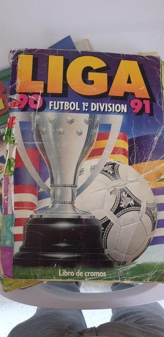 álbum de fútbol liga 90/91 totalmente completo