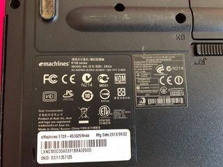 E728. Emachines portatil piezas