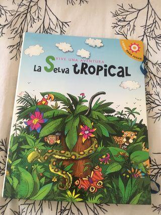 "Libro pop up Vive una aventura ""La selva tropical"""