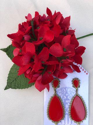 3c6b8c1f486b Pendientes de flamenca rojos de segunda mano en la provincia de ...
