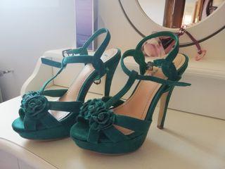 zapatos sandalia tacón