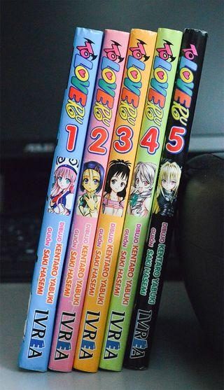"Comic Manga ""Two Love Ru"" Tomos 1-2-3-4-5"