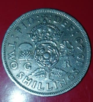 Moneda Gran Bretaña 2 Shillings 1949