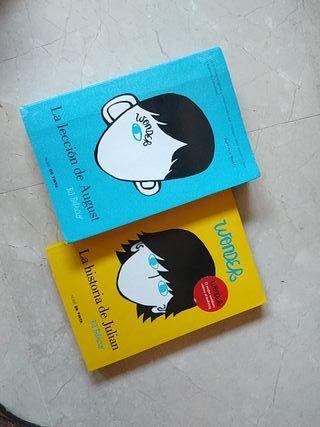 libros de wonder ( R.J Palacio)