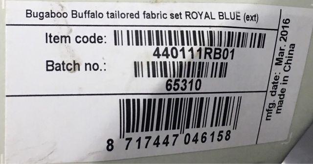 Bugaboo Buffalo Azul Royal Nuevo sin uso!!