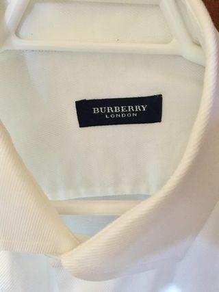 Camisa Burberry London hombre blanca