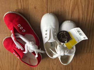 Zapatillas lona n 24 dos colores