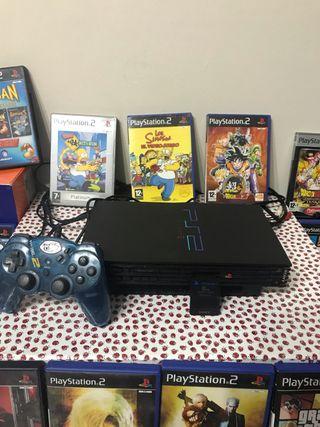 Consola playstation 2+ 23 juegos ps2