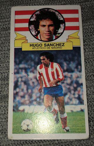 Cromo Hugo Sánchez atlético de madrid 85-86