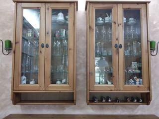 Vitrinas de madera(Muebles)