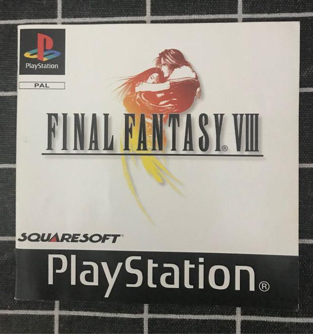 Librito instrucciones ffviii ( final fantasy 8 )