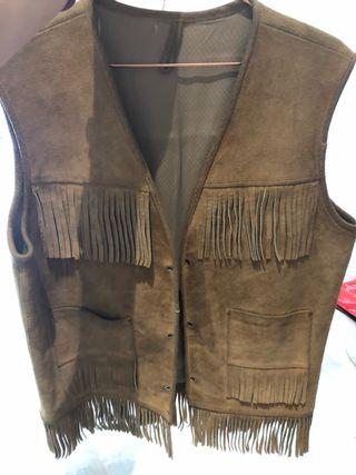 Vintage fringed vest