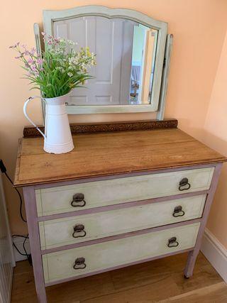 Solid wood Vintage dressing table
