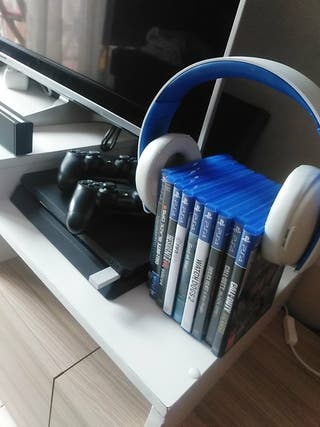 ps4 slim 500gb + 9 juegos + 2 mandos + headset 5.1