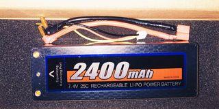 batería lipo nueva 7,4v 2s 2400mah